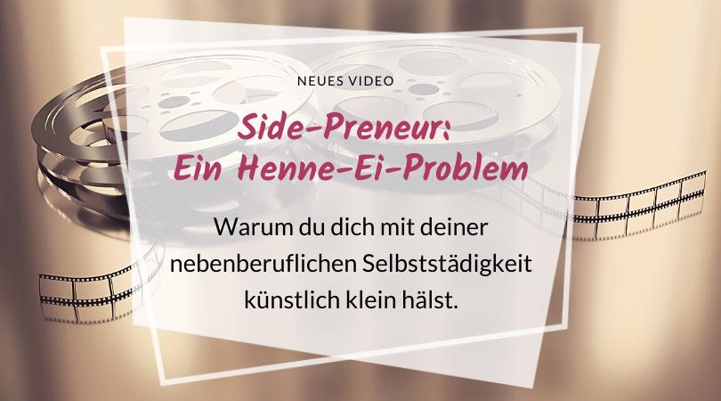 Side-Preneur, Sidepreneur, nebenberuflich Selbstständig, künstlich klein halten